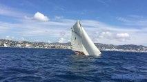 Régates royales de Cannes: A bord d'un voilier de légende