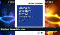 Big Deals  Doing a Literature Review: Releasing the Social Science Research Imagination (SAGE