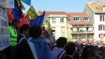 Manif Alstom Belfort Marie Guite Dufay huée par la foule
