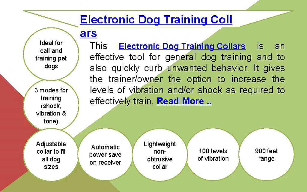 Electronic dog training collars
