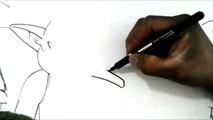 Dibujando a FROST EL EMPERADOR DEL UNIVERSO 6 DE DRAGON BALL SUPER XDEIOS