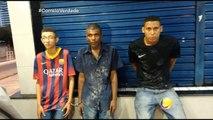 Correio Verdade - Bandidos arrombaram um farmácia no centro de Campina Grande, o alarme disparou eles não tiveram tempo de correr e foram presos.