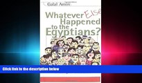 FAVORITE BOOK  Whatever Else Happened to the Egyptians?: From the Revolution to the Age of