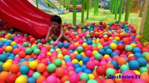 Baby playing the ball - Baby playing slide - Baby outing park