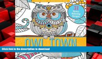 FAVORIT BOOK Owl Town Adult Coloring Book (31 stress-relieving designs) (Studio Series) FREE BOOK