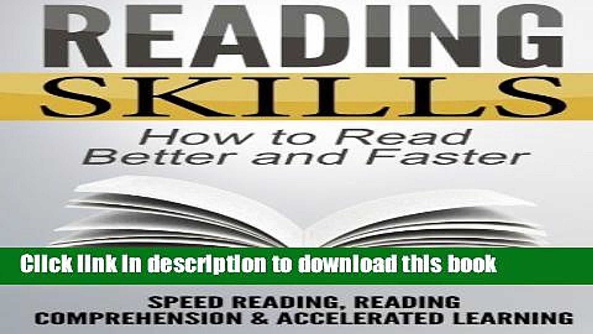 [PDF] Reading Skills: How to Read Better and Faster - Speed Reading,  Reading Comprehension