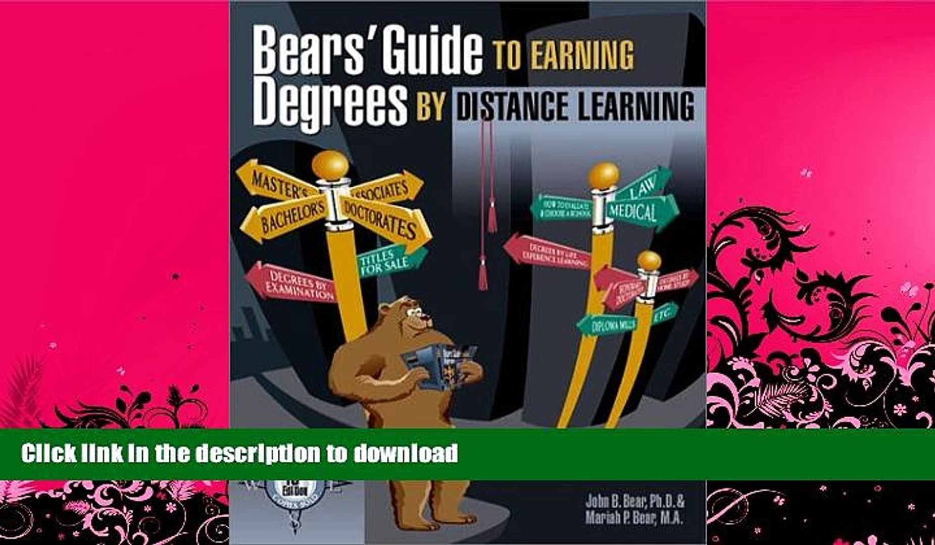 EBOOK ONLINE  Bears  Guide to Earning Degrees by Distance Learning  PDF ONLINE