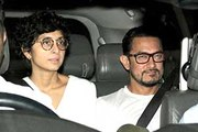 Aamir Khan & Kiran Rao watch the rushes of Dangal