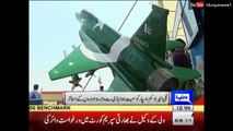 PAF officers performs Air show in Aviation Expo held in PAF museum Karachi