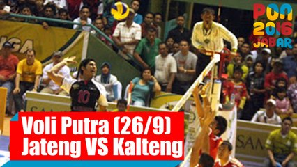 Voli Indoor - (Putra) Jawa Tengah VS Kalimantan Tengah, Senin (26/9)