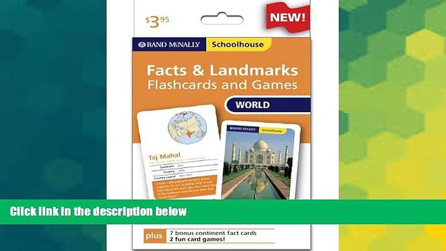 Big Deals  Rand Mcnally Schoolhouse World Facts   Landmarks Flashcards And Games  Best Seller