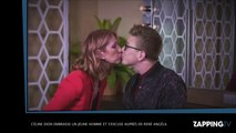 Céline Dion embrasse un jeune homme et s'excuse auprès de René Angélil