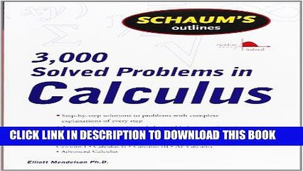 [PDF] Schaum s 3,000 Solved Problems in Calculus (Schaum s Outlines) Full  Colection