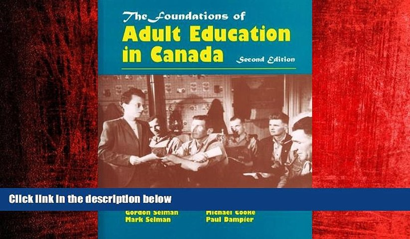FREE PDF  Foundations of Adult Education in Canada  BOOK ONLINE