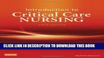 [PDF] Introduction to Critical Care Nursing, 6e (Sole, Introduction to Critical Care Nursing) Full