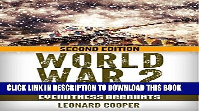 [PDF] World War 2: German Tank Crew Stories: Eyewitness Accounts (German War, WW2, World War II,