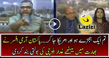 Ex Pakistani Army Officer Badly Insulting Indians On live Show