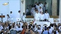 Colombie : le président Juan Manuel Santos et le chef des Farc signent un accord de paix historique