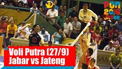 Voli Indoor - (Putra) Jawa Barat VS Jawa Tengah, Selasa (27/9)