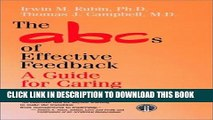 The ABCs of Effective Feedback: A Guide for Caring Professionals Paperback