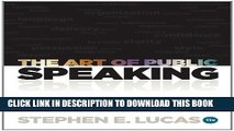 New Book The Art of Public Speaking, 11th Edition