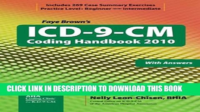 ICD-9-CM Coding Handbook, with Answers, 2010 Revised Edition (ICD-9-CM Coding Handbook