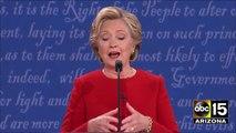 Clinton throws the FIRST PUNCH - 2016 Presidential Debate - Donald Trump vs. Hillary Clinton
