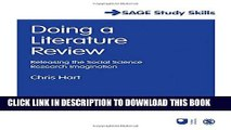 [PDF] Doing a Literature Review: Releasing the Social Science Research Imagination (SAGE Study