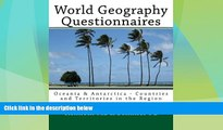 Big Deals  World Geography Questionnaires: Oceania   Antarctica - Countries and Territories in the