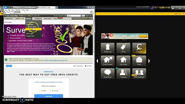 Easy Way To Get Online IMVU Credits Fastly