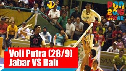 Voli Indoor - (Putra) Jawa Barat vs Bali, Rabu (28/9)