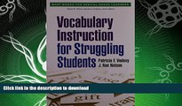 READ  Vocabulary Instruction for Struggling Students (What Works for Special-Needs Learners)  GET