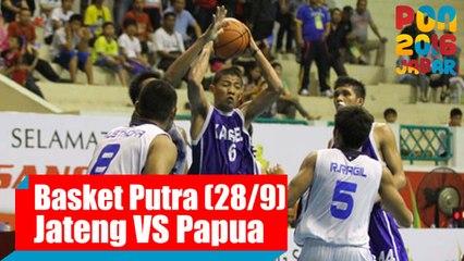 Bola Basket - (Putra) Jawa Tengah vs Papua, Rabu (28/9)