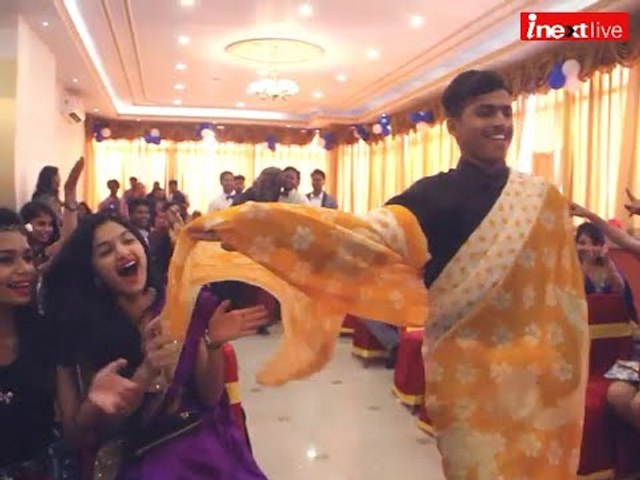 Watch If girls can wear jeans why can't boys saree