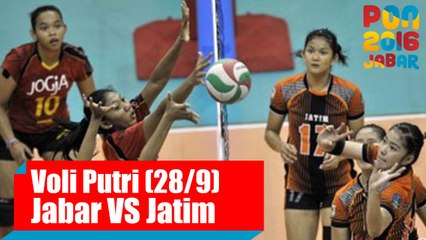 Voli Indoor - (Final Putri) Jawa Barat VS Jawa Timur (28/9)