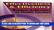 Collection Book Effectiveness   Efficiency: Random Reflections on Health Services