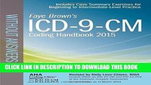 New Book ICD-9-CM Coding Handbook, without Answers, 2015 Rev. Ed. (Brown, ICD-9-CM Coding Handbook