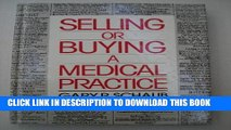 New Book Selling or Buying a Medical Practice
