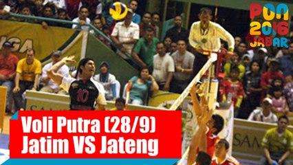Voli Indoor - (Final Putra) Jawa Timur vs Jawa Tengah, Rabu (28/9)