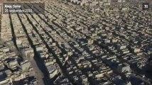Syrie : un drone survole Alep détruite