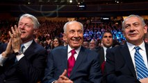 Benjamin Netanyahu pays emotional tribute to Shimon Peres