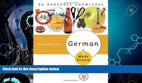 Must Have PDF  German Made Simple: Learn to Speak and Understand German Quickly and Easily  Free