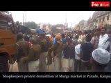 Protest at Murga market, Kanpur