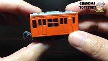 Unboxing TOYS Review/Demos -  Tomica little orange train cart metal die cast Japan Railroad series