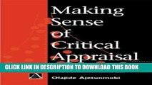 [PDF] Making Sense of Critical Appraisal (Hodder Arnold Publication) Full Collection