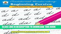 [PDF] Traditional Handwriting: Beginning Cursive, Grades 1 - 3 Popular Colection