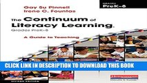 [PDF] The Continuum of Literacy Learning, Grades PreK-8, Second Edition: A Guide to Teaching Full