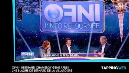 OFNI : Bertrand Chameroy très gêné suite à une mauvaise blague de Bernard de La Villardière (vidéo)