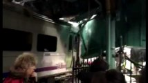 Grave accident de train de banlieue près de New York