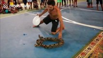 'Ninja of Serpents' performs live shows with snakes and spiders